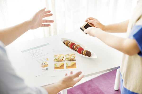 料理写真教室フェリカスピコの撮影風景