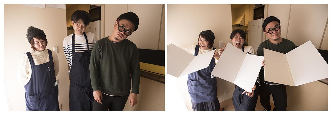 レッタチ前の2枚の写真。レタッチでお化粧ができるんです。