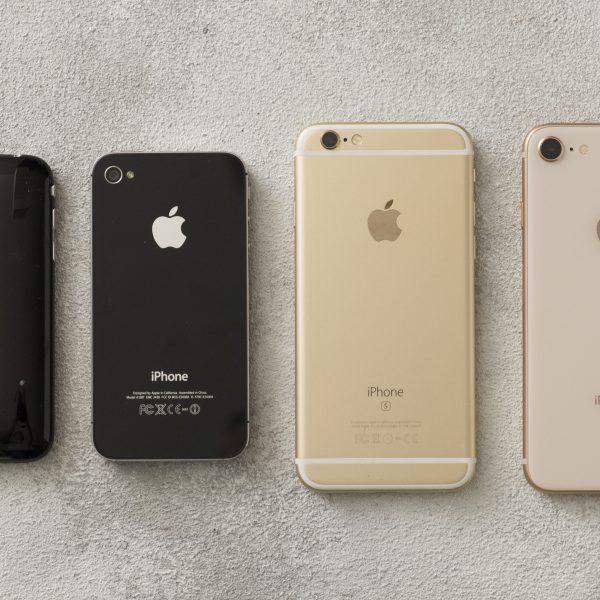 初代iPhoneから8までを比較してみた
