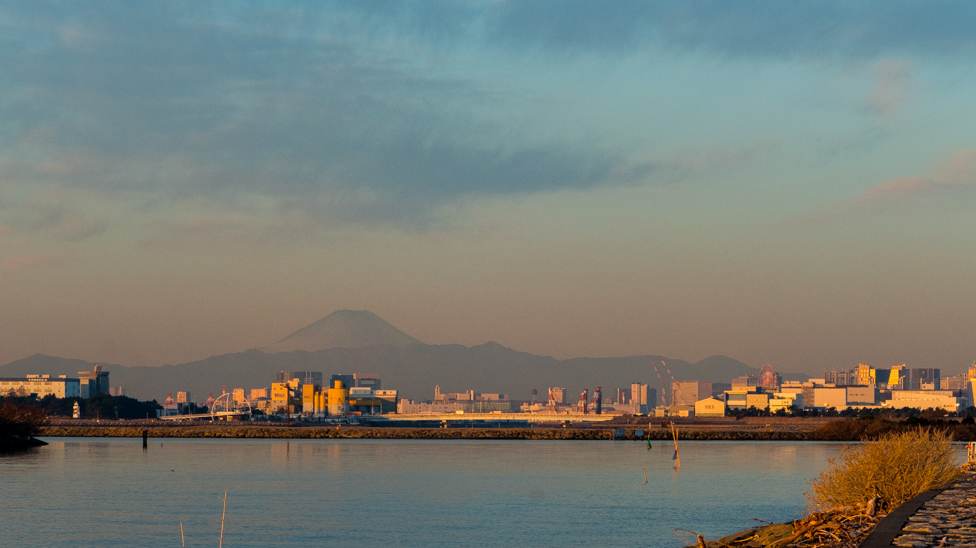 ランドと逆側には富士山が、、なんと贅沢な